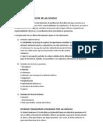 DEPARTAMENTALIZACION DE LAS CLÍNICAS