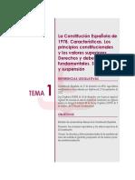 Tema 1 Constitución Española