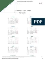 Calendario de Venezuela del 2020 _ ¿Cuándo en el Mundo_