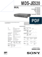 Sony MDS-JE 520 Service Manual
