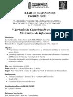 V Jornadas de Capacitacin en Recursos Electrnicos de in PROHUM-UNSa._nopW