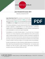 Carta Trimestral Japan Deep Value Fund 2019 03