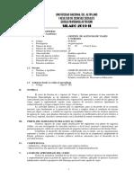 SILABO GESTION  DE AGENCIA DE VIAJES Y TURISMO 2019-II