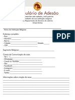 Formulario Orixa Online