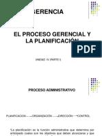 4-PROCESO GERENCIAL Y PLANIFICACION