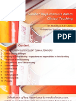 Sumber daya manusia dalam clinical teaching