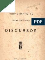 BARRETO, Tobias. Obras Completas 04 - Discursos