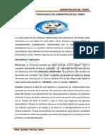 IV. LOS ENFOQUES TRADICIONALES DE ADMINISTRACIÓN DEL TIEMPO