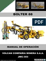 MANUAL DE OPERACIÓN BOLTER 88 JMC-303