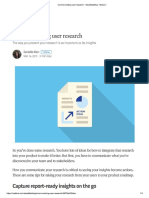 Communicating user research