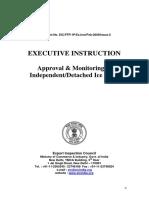 Executive Instructions Ice Plant