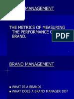 Brand Intro and Metrics