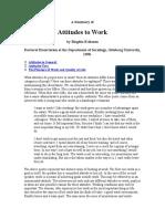 ATTITUDES TO WORK