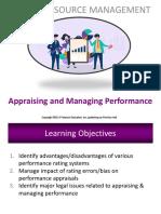 Appraising & managing performance