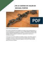 LOGÍSTICA EN LA CADENA DE VALOR DE MICHAEL PORTER