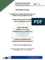 DOCTRINA POLICIAL ATRIBUTOS DEL MANDO POLICIAL UNIDAD II,III