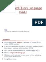 SQL-1 Introduction
