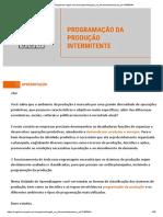 PROGRAMAÇÃO DA PRODUÇÃO INTERMITENTE 12465944