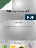 Nihongo Lesson 2