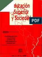 Educación superior y Sociedad