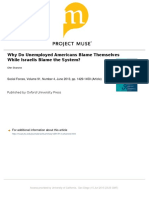 Why Do Unemployed Americans Blame Themselves