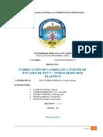 PROYECTO DE INNOVACION TECNOLOGICA EN ALBAÑILERIA - C1 - INFORME