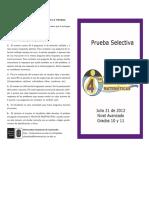 10. Prueba Selectiva Nivel Avanzado 2012