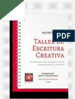 TALLER DE ESCRITURA CREATIVA 2020