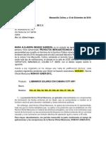CARTA  LUMINARIAS SOLARES NOM-031-ENER-2012