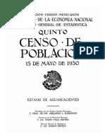 Quinto censo de población Aguascalientes mexico 1930.pdf