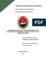 ANTEPROYECTO DE UNA PLANTA DE TRATAMIENTO DE EFLUENTES EN UNA REFINERIA DE PETROLEO..pdf