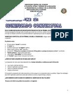Sesión 2 Significado Contextual y Sinónimos Antónimos