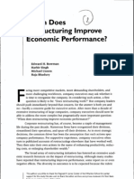 When Does Restructuring Improve Economic Performance