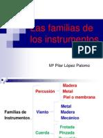 Las familias de los instrumentos