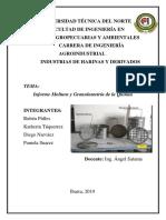 INFORME MOLTURA Y GRANULOMETRIA QUINUA