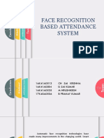 FACE RECOGNITION BASED ATTENDANCE