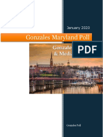 Gonzales Maryland Poll Report January 2020