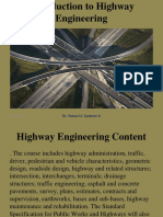 Chapter 1-Intro to Highway Engg