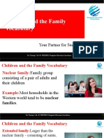 Children and the Family Vocabulary for IELTS