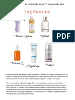 Anti Aging Skin Care - 5 Simple ways To Rejuvenate skin Tone
