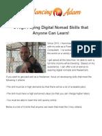 9 High Paying Digital Nomad Skills