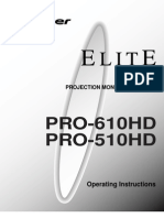 Pioneer Elite PRO-510HD Owners Manual- ARB1527