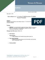Tech Note Thrane IP Handset - SW release ver111_Rev_B