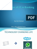 Use of IT in Banking