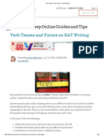Verb Tenses and Forms on SAT Writing