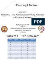 Week6_Lesson 4. Problem 1- Two Resources; Resolving Resource Allocation Problems