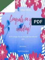 Colorful Floral Bridesmaid Wedding Card (2)