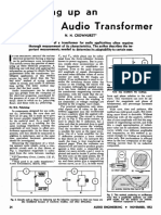 Measuring Up an Audio Transformer - Norman H. Crowhurst (Audio Engineering, Nov 1952)