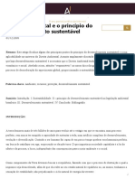 Direito ambiental e o princípio do desenvolvimento sustentável - Âmbito Jurídico