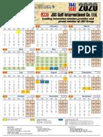 JGC Gulf Calendar 2020 A3 R1